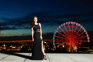 The ferris wheel in Atlanta is where we ended Madison's beautiful senior pictures. The sunset and skyline were breathe taking. Image by Urban Flair, Starr Petronella