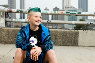 Tween boy rocks his style in his photoshoot to celebrate his 12 year old pictures. Images by Starr Petronella, Urban Flair