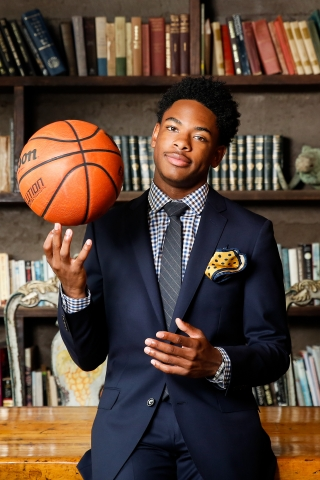African American High School Senior Basketball portraits