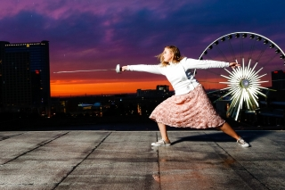 This fierce, strong young georia fencer is beautiful and talented. Images captured in Atlanta at sunset by Starr Petronella of Urban Flair.